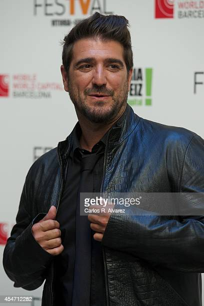 Spanish singer Antonio Orozco attends the Vertele awards 2014 at the Villa Suso Palace during day 5 of the 6th FesTVal Television Festival 2014 on...