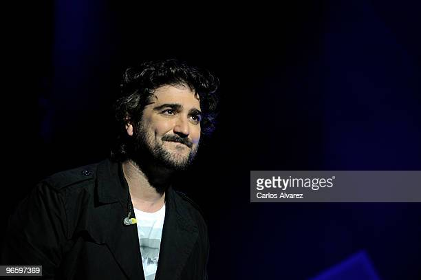Spanish singer Antonio Orozco performs on stage during the Cadena Dial 2010 awards at the Tenerife Auditorium on February 11 2010 in Tenerife Spain
