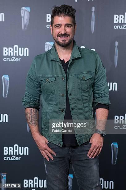 Spanish singer Antonio Orozco presents Braun event at Room Hotel on June 11 2015 in Madrid Spain