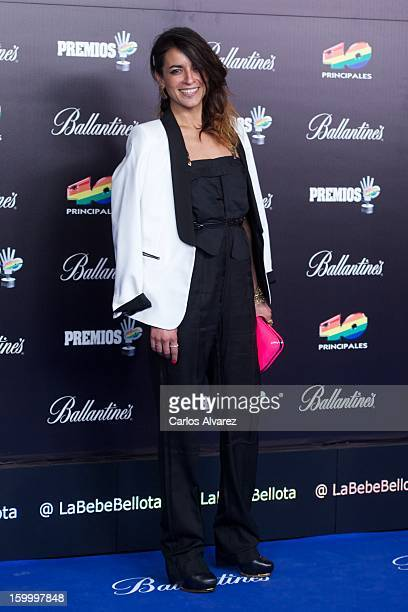 Spanish singer Bebe attends 40 Principales Awards 2012 photocall at Palacio de los Deportes on January 24 2013 in Madrid Spain