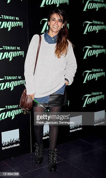 Spanish singer Bebe attends Aloe Blacc concert photocall at Joy Eslava Club on November 7 2011 in Madrid Spain
