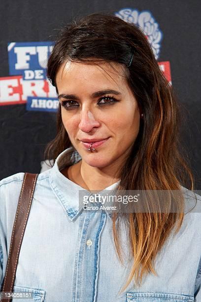 Spanish singer Bebe attends Fuga de Cerebros 2 at Callao cinema on November 24 2011 in Madrid Spain
