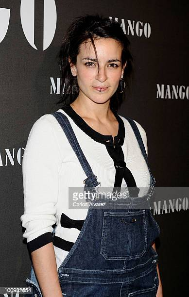 Spanish singer Bebe attends Mango new collection presentation at Circulo de Bellas Artes on May 26 2010 in Madrid Spain
