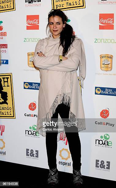 Spanish singer Bebe attends Mezclando por Haiti fundraising party at Pacha Club on January 26 2010 in Madrid Spain