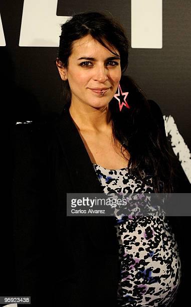 Spanish singer Bebe attends Nine premiere at Capitol Cinema on January 21 2010 in Madrid Spain