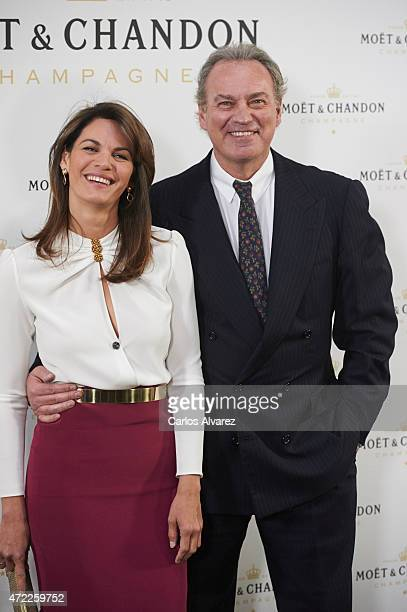 Spanish singer Bertin Osborne and wife Fabiola Martinez attend Moet Tiny Tennis event at the French Embassy on May 5 2015 in Madrid Spain