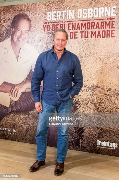 Spanish singer Bertin Osborne attends 'Yo Debi Enamorarme De Tu Madre' album presentation at Urso Hotel on November 28 2018 in Madrid Spain