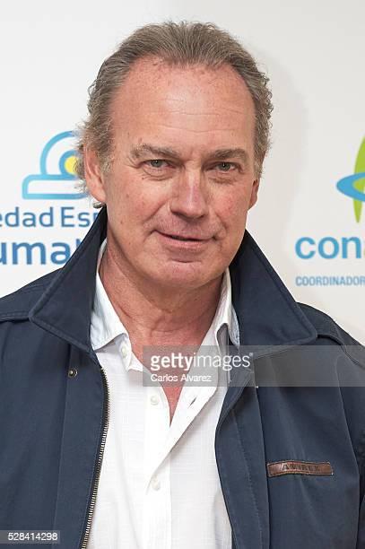 Spanish singer Bertin Osborne presents Un Paso En La Gota campaign at Las Letras Hotel on May 05 2016 in Madrid