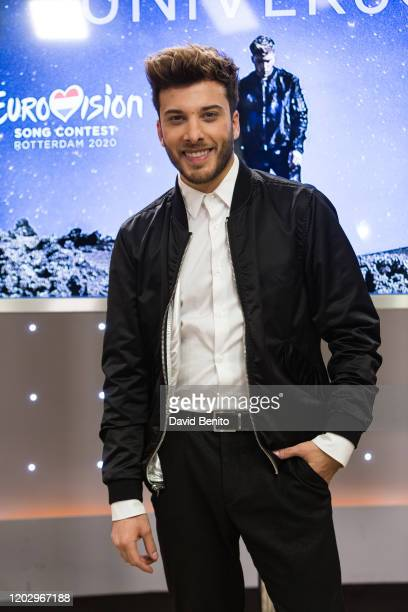 Spanish singer Blas Canto attends the presentation of his song 'Universe' with which he will represent Spain at the 2020 Eurovision Festival on...