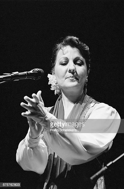 Spanish singer Carmen Linares performs on April 14th 1993 at Vredenburg in Utrecht, Netherlands.