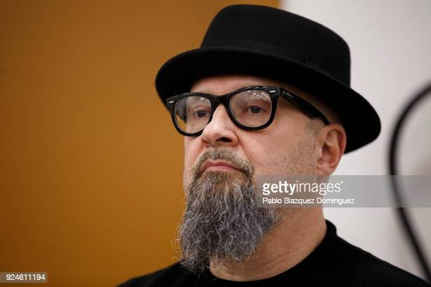 Spanish Singer Cesar Montana Lehman known as Cesar Strawberry from the music band 'Def Con Dos' attends the presentation of Spanish artist Santiago...