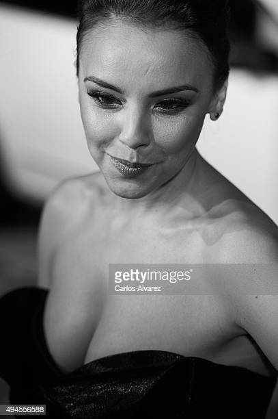 Spanish singer Chenoa attends the VIII Cosmopolitan Fun Fearless Female Awards at the Ritz hotel on October 27 2015 in Madrid Spain