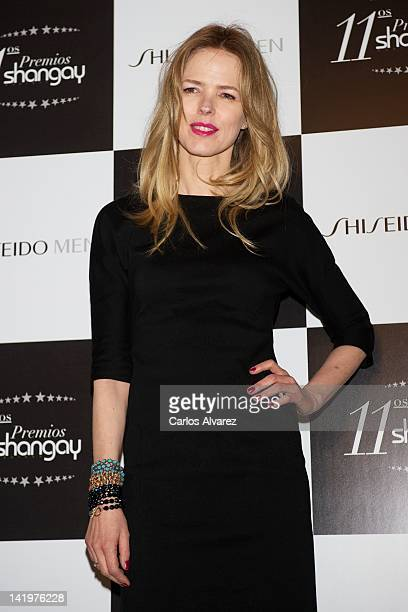 Spanish singer Christina Rosenvinge attends Shangay awards 2012 at Calderon Theater on March 27 2012 in Madrid Spain