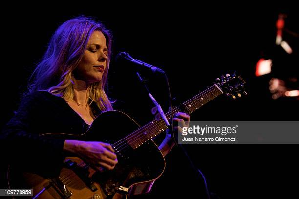 Spanish singer Christina Rosenvinge performs on stage at Joy Eslava Theater on March 4 2011 in Madrid Spain