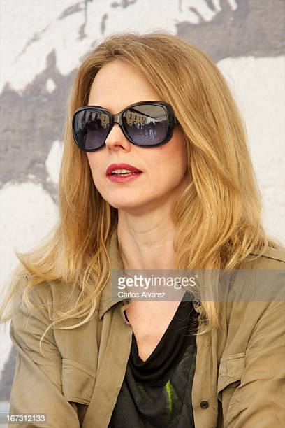 Spanish singer Christina Rosenvinge presents Aperol Spritz Sound Agenda at San Anton market on April 24 2013 in Madrid Spain