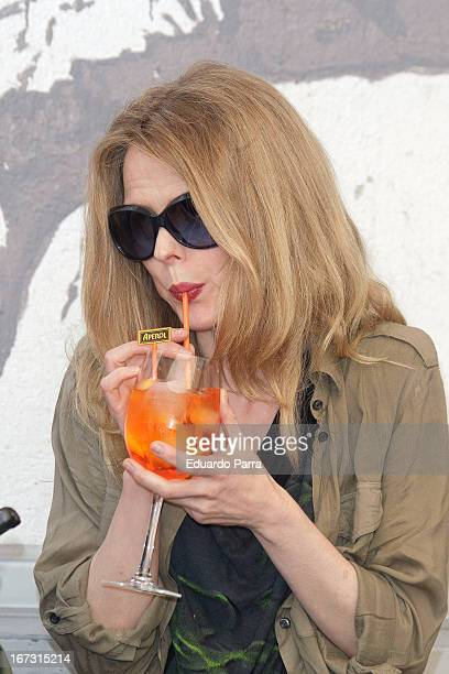 Spanish singer Christina Rosenvinge presents 'Aperol Spritz Sound Agenda' at San Anton market on April 24 2013 in Madrid Spain