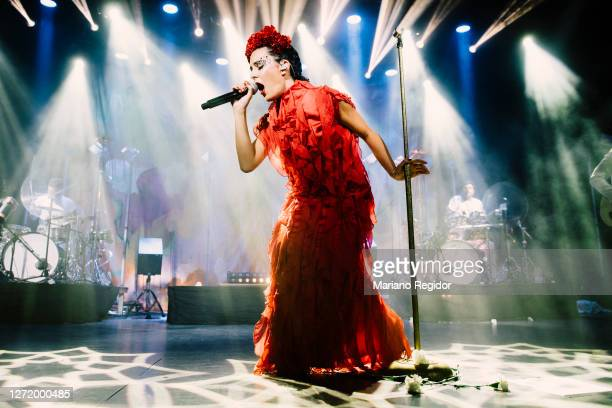 Spanish singer Cristina Manjón, aka Nita, of the Spanish band Fuel Fandango performs on stage at La Riviera as part of the Live Nation's Crew Nation...
