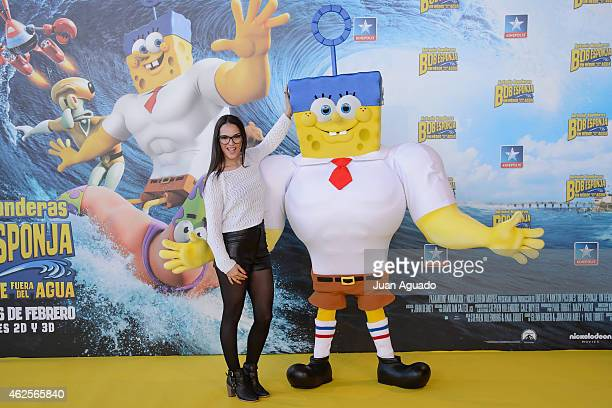 Spanish singer Dama Abad attends the 'Bob Esponja' Premiere at Kinepolis Cinema on January 31 2015 in Madrid Spain