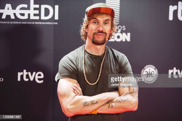 Spanish singer Dani Carbonell aka Macaco attends the 1st Odeon Awards at Teatro Real on January 20 2020 in Madrid Spain