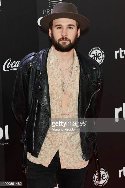 Spanish singer Dani Fernandez attends Odeon Awards 2020 at Royal Theater on January 20 2020 in Madrid Spain