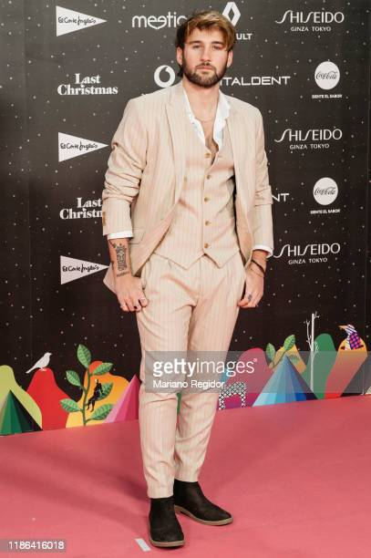 Spanish singer Dani Fernández attends 'Los40 music awards 2019' photocall at Wizink Center on November 08 2019 in Madrid Spain
