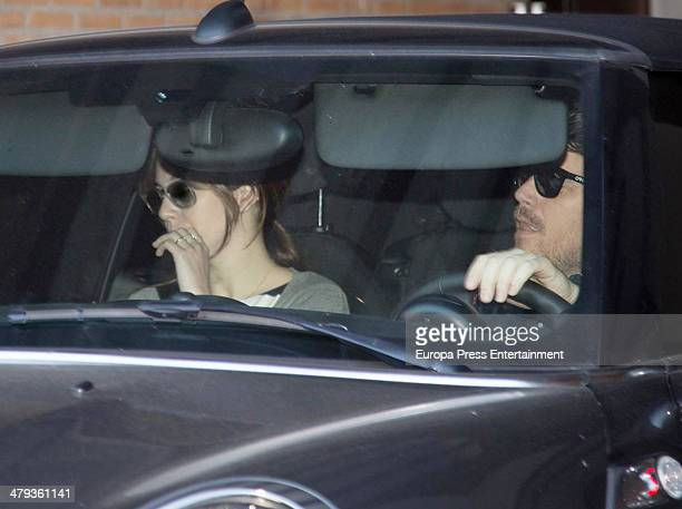 Spanish singer Dani Martin and spanish actress Blanca Suarez are seen on March 17 2014 in Madrid Spain