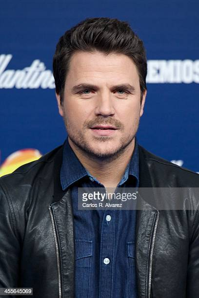 Spanish singer Dani Martin attends the '40 Principales Awards' 2013 photocall at Palacio de los Deportes on December 12 2013 in Madrid Spain