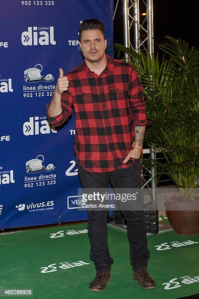 Spanish singer Dani Martin attends the Cadena Dial Awards 2014 at the Recinto Ferial Auditorium on March 5 2015 in Tenerife Spain