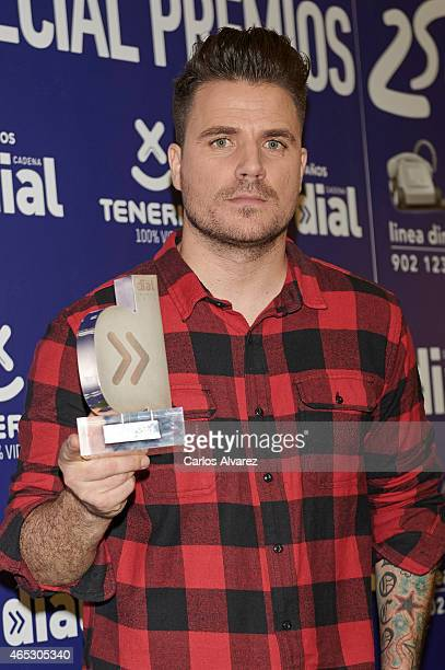Spanish singer Dani Martin attends the Cadena Dial Awards 2014 press room at the Recinto Ferial Auditorium on March 5 2015 in Tenerife Spain