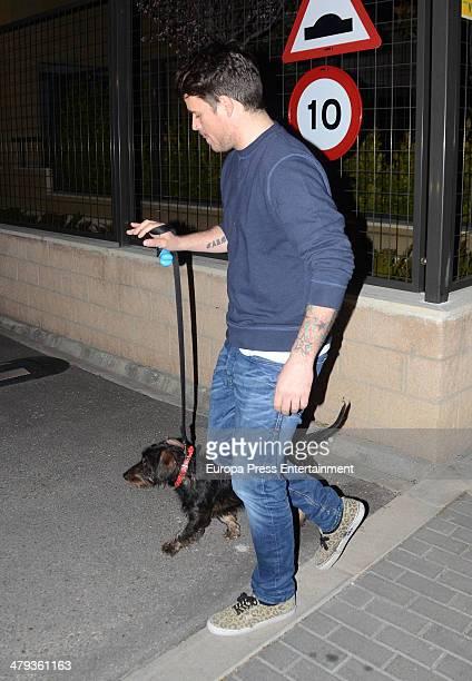 Spanish singer Dani Martin is seen on March 17 2014 in Madrid Spain