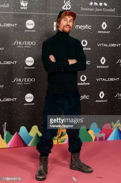 Spanish singer Daniel Carbonell aka Macaco attends 'Los40 music awards 2019' photocall at Wizink Center on November 08 2019 in Madrid Spain