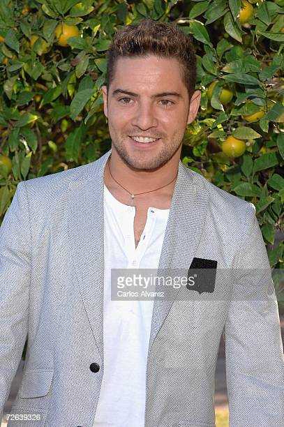 Spanish singer David Bisbal attends a reception at Albeniz Palace before the 53rd Ondas Awards Ceremony at Teatre Musical on November 23 2006 in...