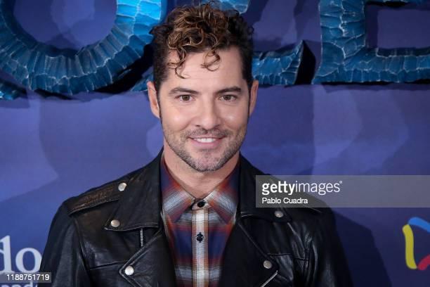Spanish singer David Bisbal attends 'Frozen II' premiere at Callao Cinema on November 19, 2019 in Madrid, Spain.