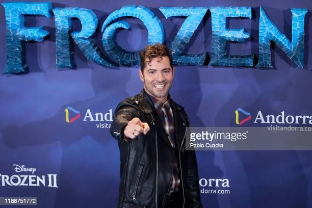 Spanish singer David Bisbal attends 'Frozen II' premiere at Callao Cinema on November 19 2019 in Madrid Spain