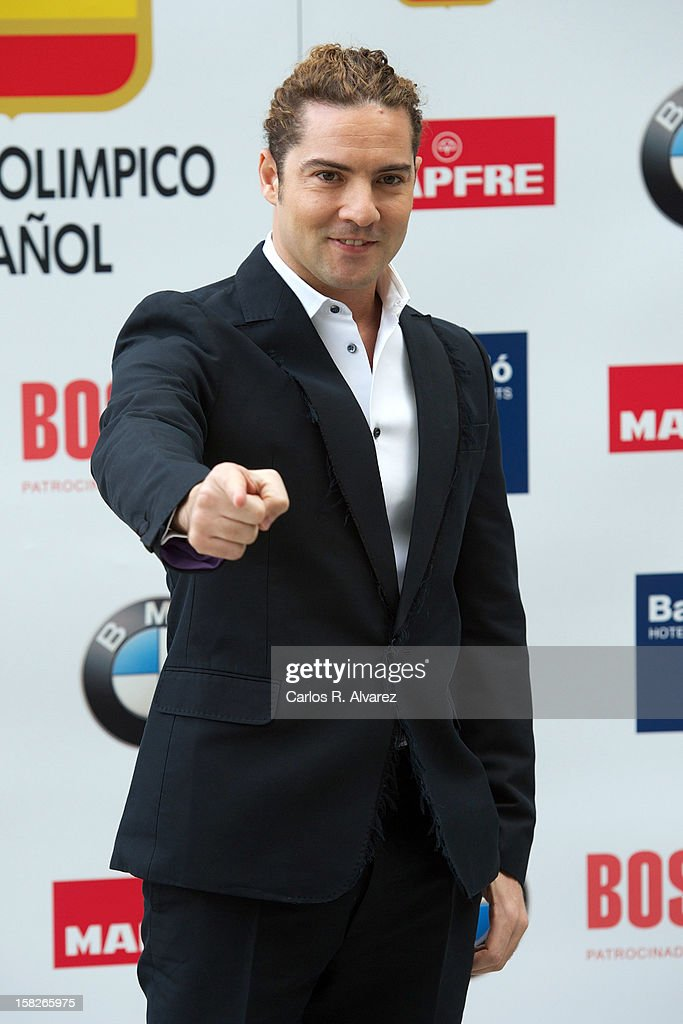 Spanish singer David Bisbal attends Spanish Olympic Commitee Centenary Gala at El Canal theater on December 12, 2012 in Madrid, Spain.