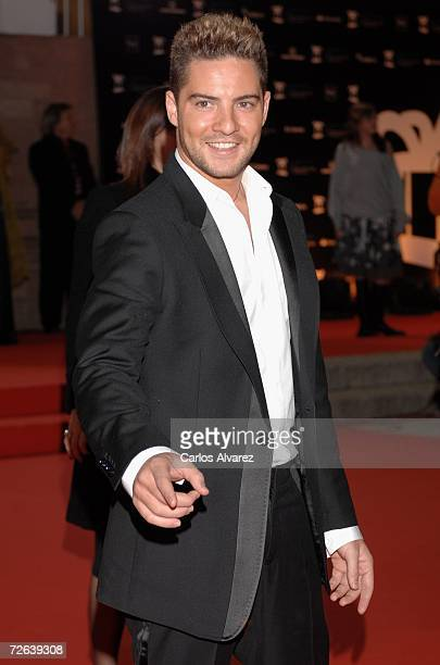 Spanish singer David Bisbal attends the 53rd Ondas Awards ceremony at Teatre Musical on November 23 2006 in Barcelona Spain