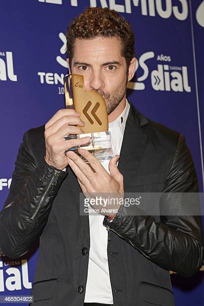 Spanish singer David Bisbal attends the Cadena Dial Awards 2014 press room at the Recinto Ferial Auditorium on March 5 2015 in Tenerife Spain