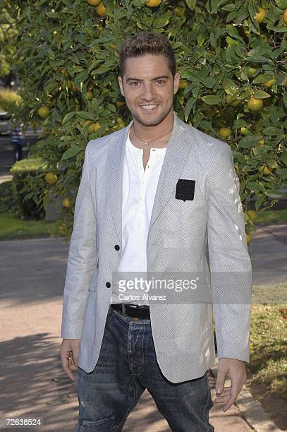 Spanish singer David Bisbal attends the reception at Albeniz Palace before the 53rd Ondas Awards Ceremony on November 23 2006 in Barcelona Spain
