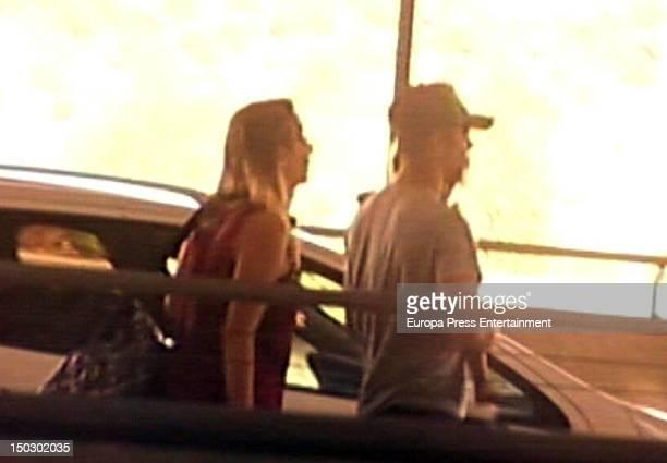 Spanish singer David Bisbal is seen with his daughter Ella on July 31 2012 in Madrid Spain