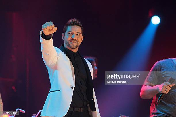 Spanish singer David Bisbal performs on stage 'Operacion Triunfo El Reencuentro' Concert at Palau de Sant Jordi on October 31 2016 in Barcelona Spain