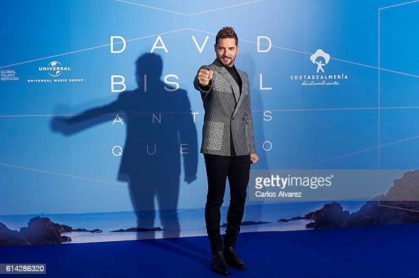 Spanish singer David Bisbal presents 'Antes Que No' new videoclip at the Neptuno Palace on October 13 2016 in Madrid Spain