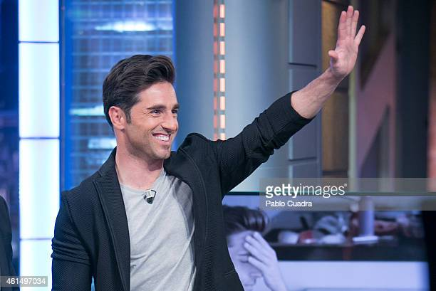 Spanish singer David Bustamante attends 'El Hormiguero' TV Show at 'Vertice' studios on January 13 2015 in Madrid Spain