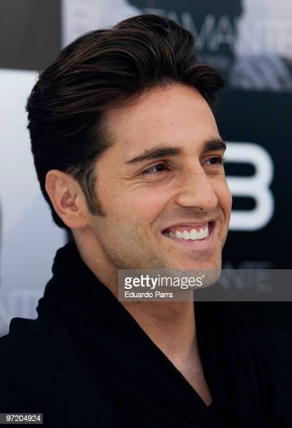 Spanish singer David Bustamante presents his new album 'A Contracorriente' at Fundacion Canal on March 1 2010 in Madrid Spain