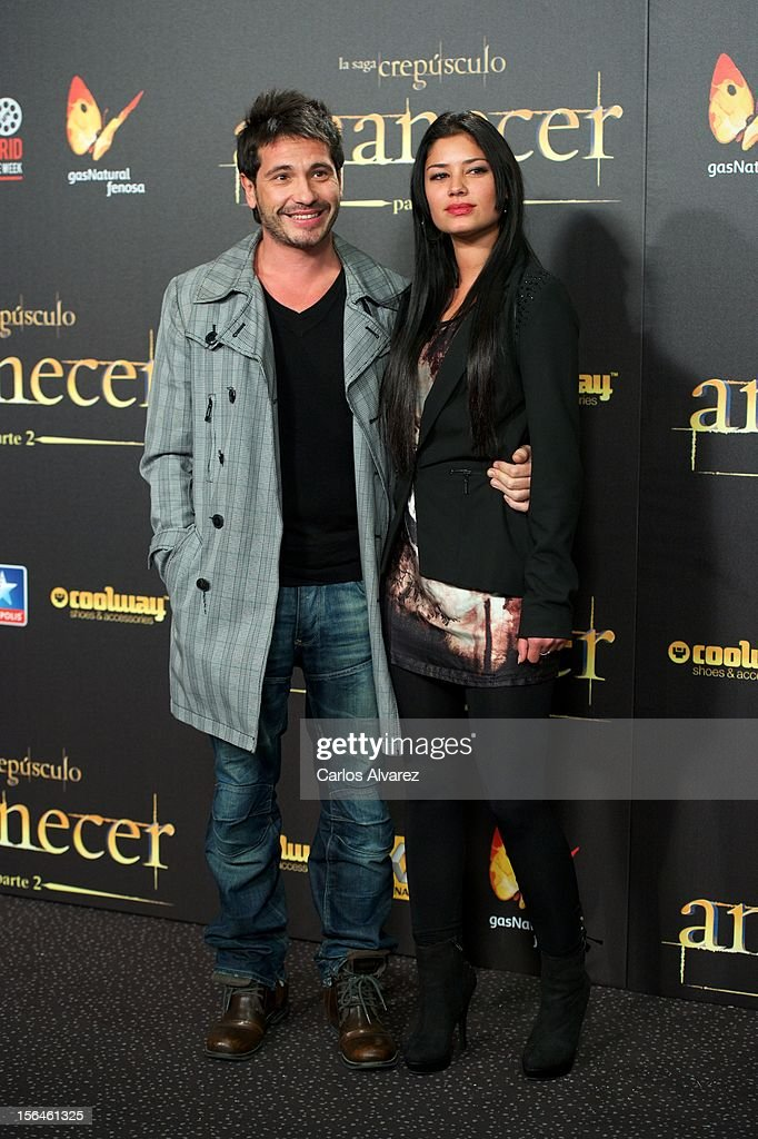 Spanish singer David de Maria (L) attends the 'The Twilight Saga: Breaking Dawn - Part 2' (La Saga Crepusculo: Amanecer Parte 2) premiere at the Kinepolis cinema on November 15, 2012 in Madrid, Spain.