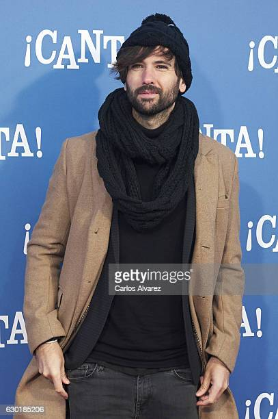 Spanish singer David Otero attends 'Canta' premiere at Capitol cinema on December 18 2016 in Madrid Spain