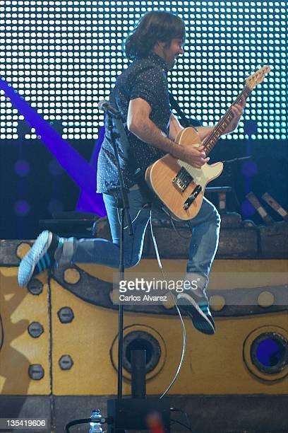 Spanish singer David Otero El Pescao performs on stage during 40 Principales Awards 2011 at Palacio de los Deportes on December 9 2011 in Madrid Spain
