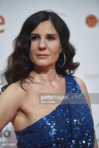 Spanish singer Diana Navarro attends the Jose Maria Forque Awards 2016 at Teatro de la Maestranza on January 14 2017 in Seville Spain