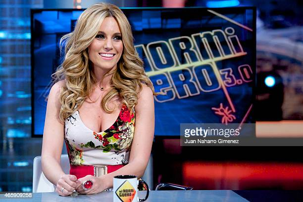 Spanish singer Edurne attends 'El Hormiguero' Tv show at Vertice Studio on March 11 2015 in Madrid Spain