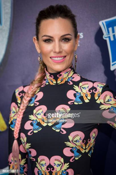Spanish singer Edurne attends 'My Little Pony' premiere at the Capitol cinema on November 30 2017 in Madrid Spain