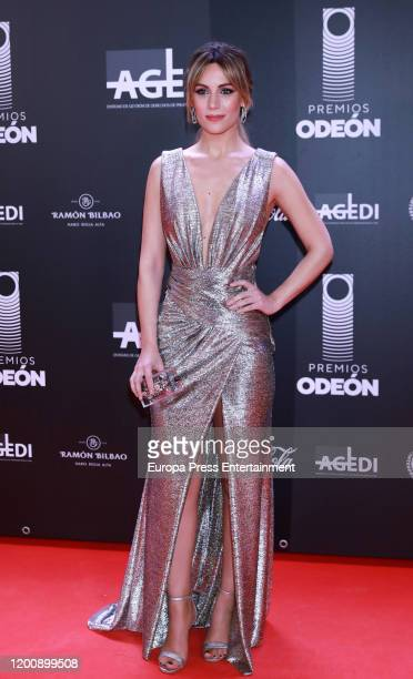 Spanish singer Edurne attends Odeon Awards 2020 at Royal Theater on January 20 2020 in Madrid Spain